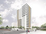 62 unit housing block in Mataró