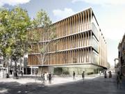 Concurso equipamiento público (biblioteca, archivo municipal y sede del distrito) en la plaza Sarrià de Barcelona