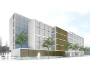 Nova construcció de la residència assistida amb centre de dia per a gent gran al parc de Les Muntanyetes de Badalona