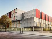 Concurso para una residencia de estudiantes de 400 unidades residenciales en contenedores reciclados en Berlin (Alemania)
