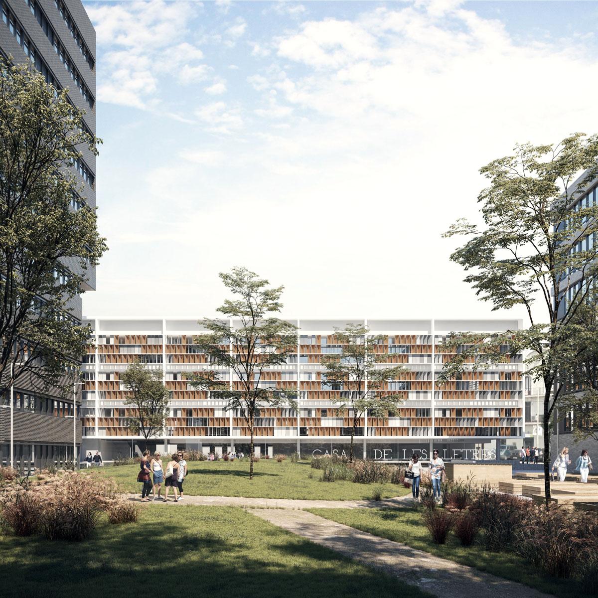 """Concurso nuevo edificio corporativo """"Casa de les Lletres"""", Barcelona"""