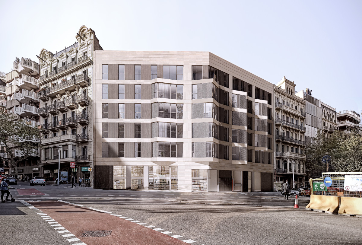 Edificio de 30 viviendas y locales comerciales en la avenida Diagonal de Barcelona